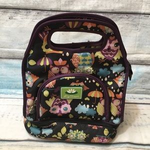 Lily Bloom Owl Print Insulated Lunchbox